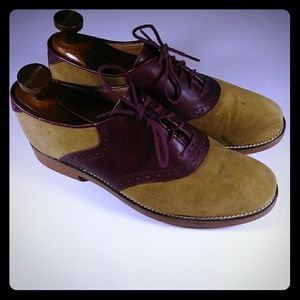 GH Bass Men Suede Oxfords size 10